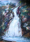 "Pat Barkman, ""Ellis Falls White Mountains, NH"", Watercolor Painting"