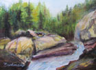 "Pat Barkman, ""Zealand Falls White Mts., NH"", Watercolor Painting"